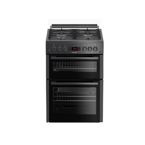 Blomberg GGN65N 60cm Double Oven Gas Cooker with Gas Hob Anthracite